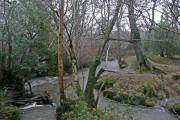 Stream in flood at Vennmills