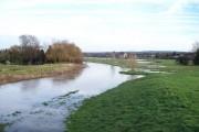 River Penk in flood at Penkridge