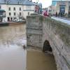Looking up Bridge Street from Wye Bridge