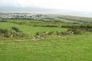 Fields below Treflys Church