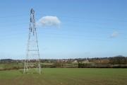 Pylon in Crop Field, Lower Penn, Staffordshire