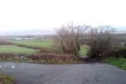 Farm fields from open cast land