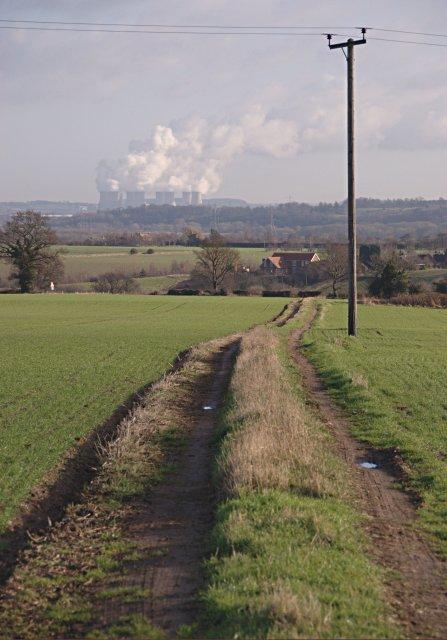 Track across the fields