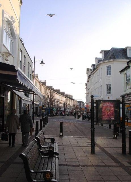 View along Victoria Street, Paignton