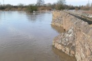 Flooded Packhorse Bridge in Aylestone