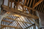 Roof detail of barn at Leez Priory Farm