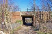 Bridge over track to Gore House