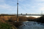 Cable stayed footbridge over the River Rother