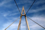Cable stayed bridge mast