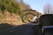 Stone bridge over the road at Ampleforth Abbey