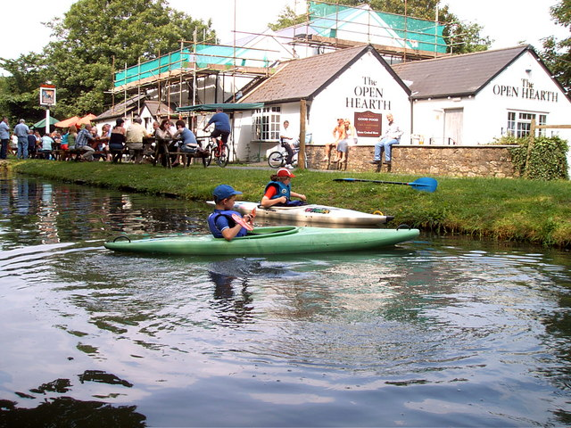 Canoeists at the Open hearth public house