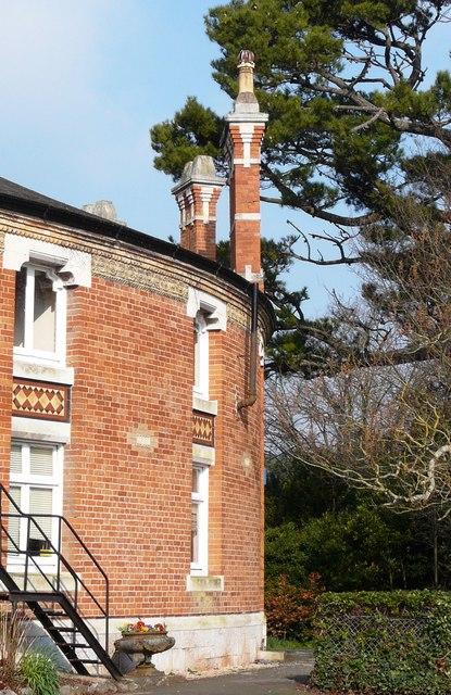 Fine chimney stacks, Rotunda, Oldway mansion, Paignton