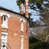 Fine chimney stacks, Rotunda, Oldway mansion, Paignton