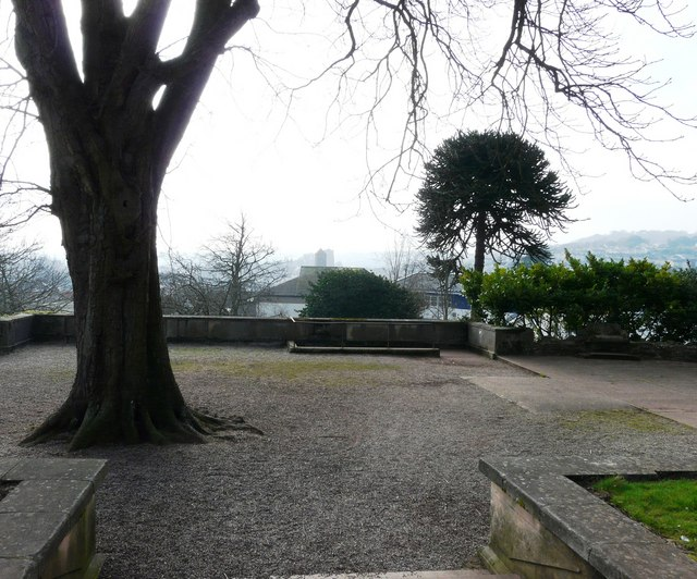 View to the south west, Oldway mansion garden, Paignton