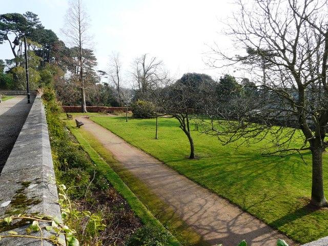Lower level garden, Oldway mansion, Paignton