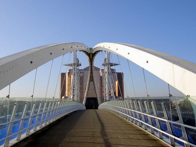 The Lowry footbridge
