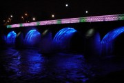 Bothwell Bridge Over the River Clyde at Night