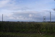 B6417 View showing Farmland and Overhead Cables.