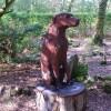 Cerflun Ci Portmeirion Carving of a Dog