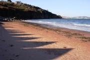 Shadows on the sand, Broadsands beach