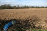 View north across farmland