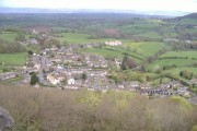 North Nibley from the top of Tyndale Monument