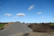 Gravel and soil