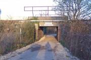 Bridge to Brookland Lake under railway