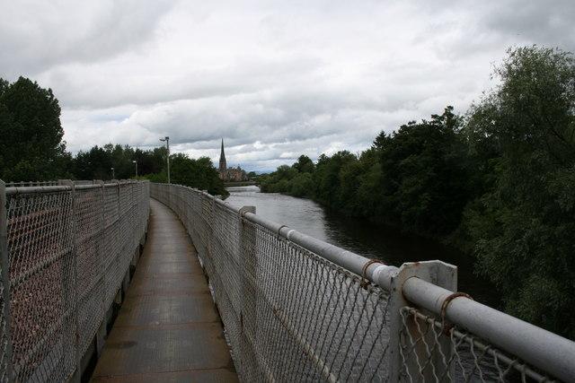 Rail Bridge  footpath, River Tay, Perth