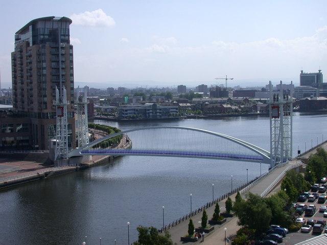 Lowry Bridge seen from Imperial War Museum