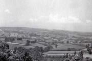Farmland from High Peak, Sidmouth, Devon taken in 1959
