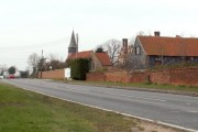 A view of Woodham Mortimer along the A414