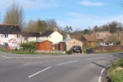 North side of Wetherden village seen from Church Street