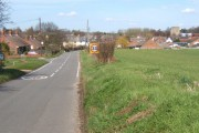 Entering Wetherden from the south, view along Park Road