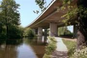 Motorway bridge over the River Wey