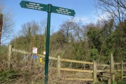 Cuckoo Way Sign next to Bridge 32 on Chesterfield Canal