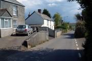 The road down to Lanreath village