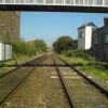 Railway from the level crossing