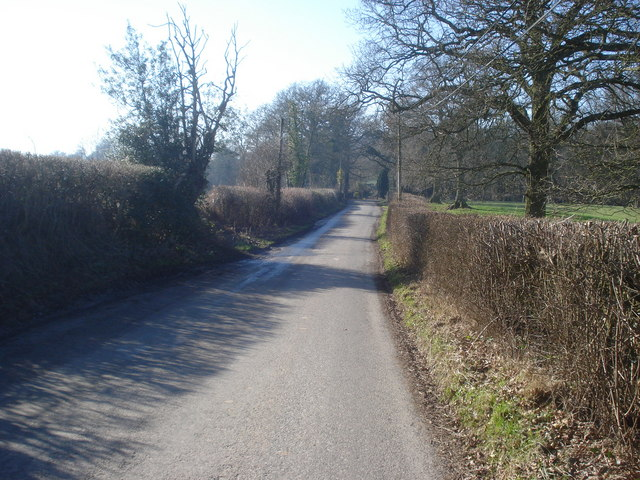 Lane near Stoneyard Green