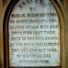 Oaks colliery memorial plaque