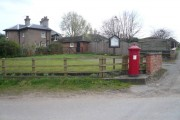 Budby Village Scene and a Victorian Postbox