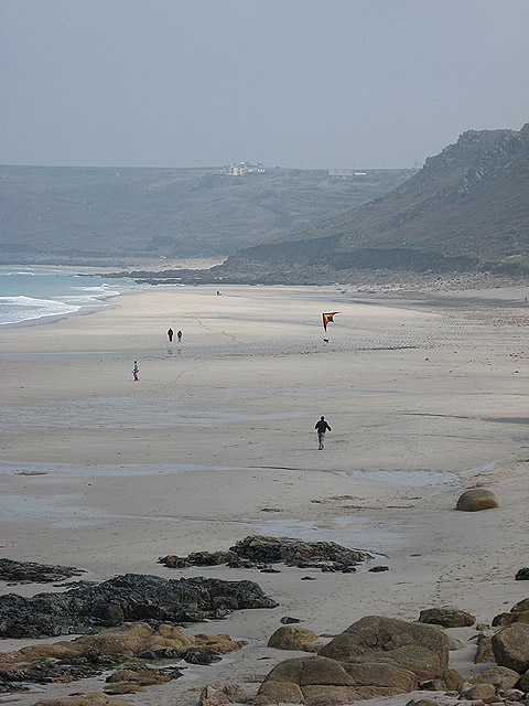Kite flying day at Sennen Cove