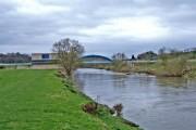 River Severn and private bridge