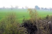 Littleton. View from Pearl Lane bridge towards Christleton village