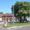 Gipping Road junction, Claydon, looking across Ipswich Road