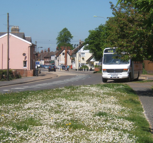 Ipswich Road, Claydon, looking north
