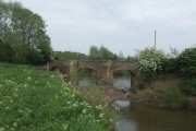 Old Powick Bridge over the River Teme