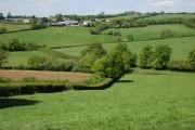 Farmland around Middlecot, Morchard Bishop