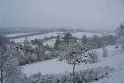 Winter view of Down's Bridge fields, Suckley