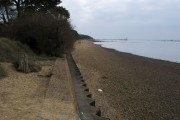 Beach by the Royal Victoria Country Park